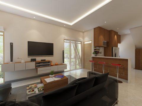فایل اسکچاپ طراحی داخلی و آشپزخانه 1 همراه با تنظیمات متریال،رندر و نورپردازی