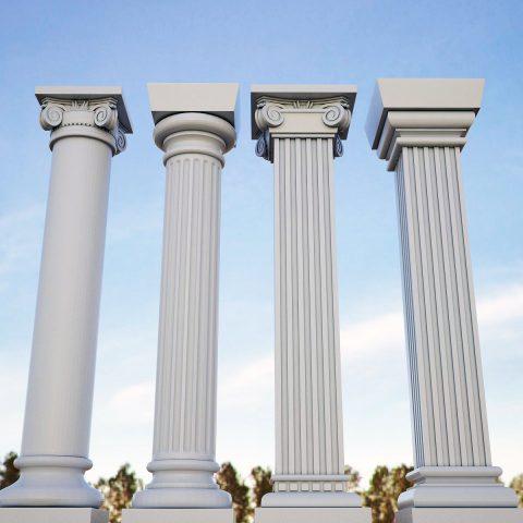 مدل انواع ستون کلاسیک