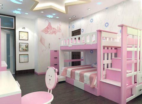 طراحی اتاق خواب کودک #9 در اسکچاپ