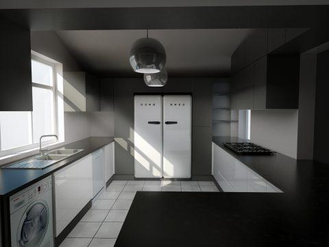 طراحی آشپزخانه مدرن در اسکچاپ #7