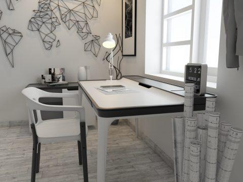 مدل آماده دفتر معماری #11 در اسکچاپ به همراه تنظیمات رندر (کپی)