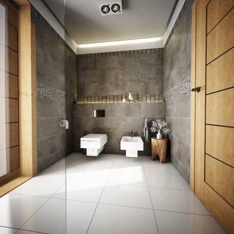 صحنه آماده رندر حمام و دستشویی 1# در اسکچاپ