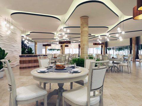 طراحی داخلی رستوران با اسکچاپ