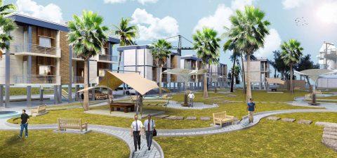 مدل آماده رندر مجتمع مسکونی در اسکچاپ
