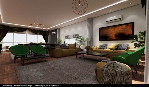 فایل اسکچاپ طراحی ویلای مسکونی مدرن (داخلی و خارجی)