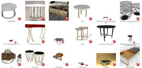 دانلود انواع میز های دکوراتیو در اسکچاپ01