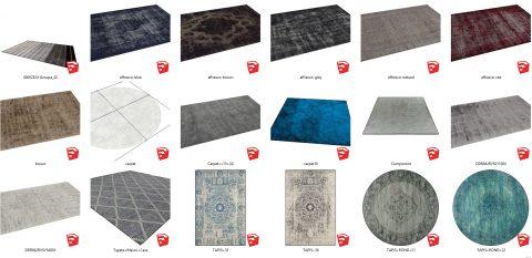 دانلود انواع فرش های وینتیج در اسکچاپ