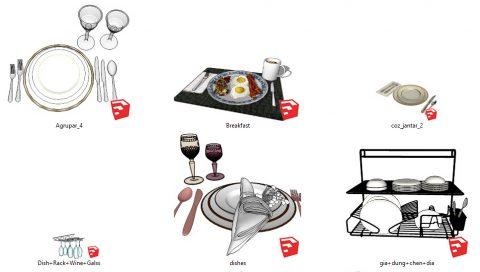 دانلود انواع آبجکت های ظروف در اسکچاپ 01