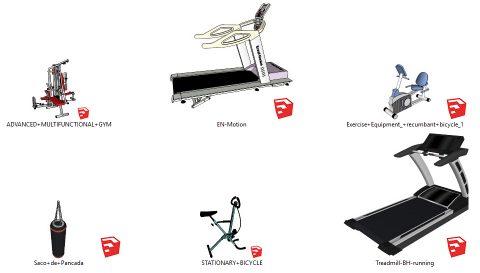 دانلود انواع آبجکت های لوازم ورزشی باشگاه در اسکچاپ 02