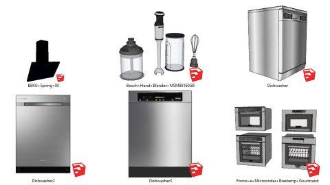 دانلود انواع آبجکت لوازم برقی  آشپزخانه در اسکچاپ 03