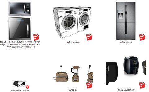 دانلود انواع آبجکت لوازم برقی  آشپزخانه در اسکچاپ 04