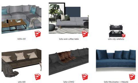 دانلود انواع مبل و صندلی مدرن در اسکچاپ 05