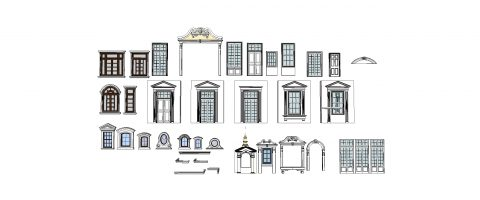 دانلود انواع درب و پنجره های کلاسیک و نئوکلاسیک اسکچاپ