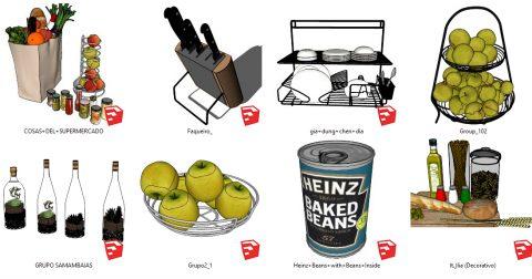 دانلود انواع آبجکت لوازم آشپزخانه در اسکچاپ 01