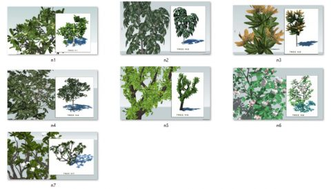دانلود انواع آبجکت های درخت در اسکچاپ 02