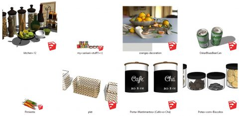 دانلود انواع آبجکت لوازم آشپزخانه در اسکچاپ 02
