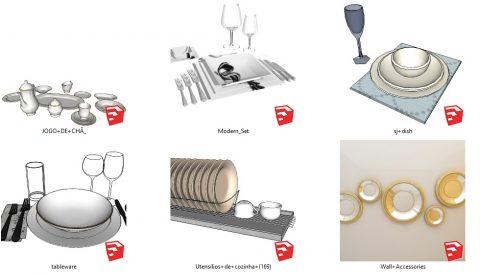 دانلود انواع آبجکت های ظروف در اسکچاپ 02