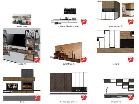 دانلود انواع ست میز تلویزیون اسکچاپ 02