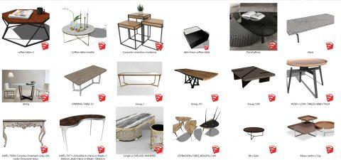 دانلود انواع میز های دکوراتیو در اسکچاپ 02