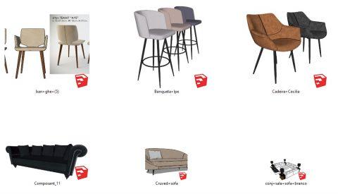 دانلود انواع آبجکت مبلمان و صندلی مدرن در اسکچاپ 05