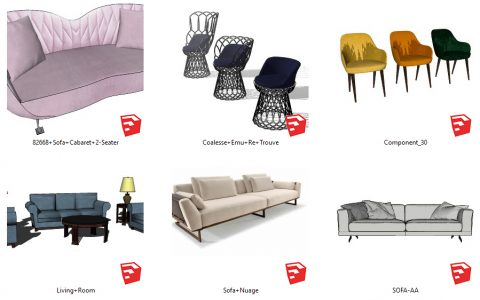 دانلود انواع مبل و صندلی مدرن در اسکچاپ 06