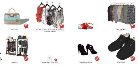 دانلود انواع آبجکت پوشاک در اسکچاپ 02